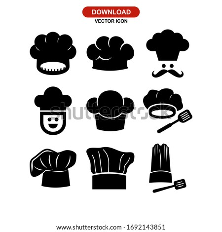 chef hat icon or logo isolated sign symbol vector illustration - Collection of high quality black style vector icons  Foto stock ©