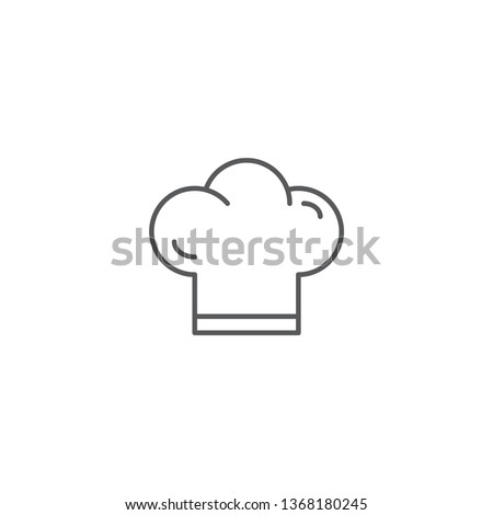 Chef hat line icon outline vector sign linear style pictogram isolated on white