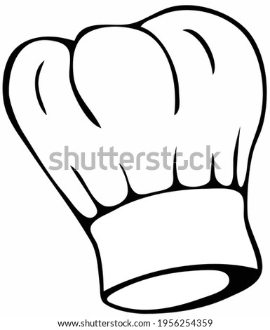 Chef hat or toque vector illustration. Stock photo ©