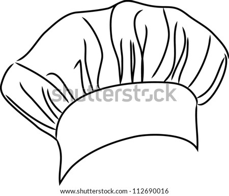 chef hat vector line drawingPink Chef Hat Clip Art