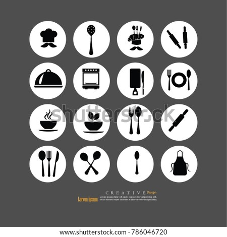 Chef icon.Chef symbol.vector illustration.
