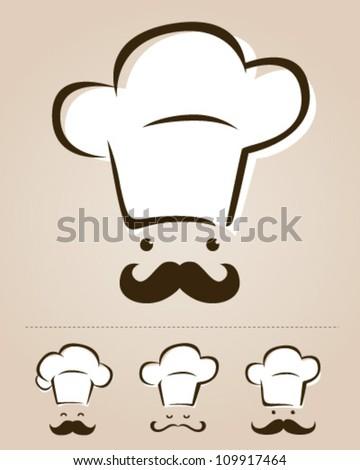 Chef icon set - stock vector