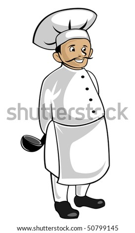 Chef in uniform isolated on white as a concept of healthy food. Jpeg version also available in gallery - stock vector