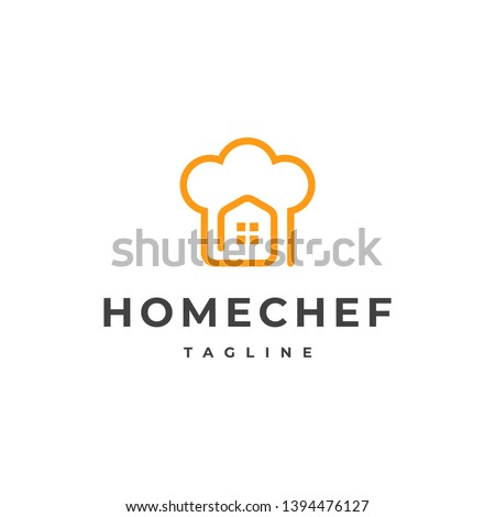 Chef Logo, Restaurant Logo, Catering Logo, Chef Home logo vector