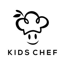 Chef logo with simple design vector, Kids icon and Chef logo, Design element for logo, poster, card, banner, emblem, t shirt. Vector illustration
