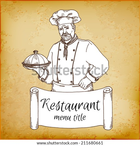 Chef menu template for restaurant and cafe