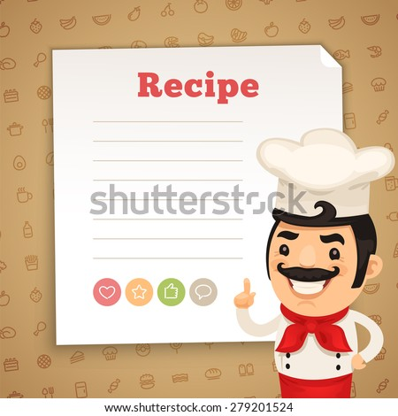 Chef Presenting Recipe Card