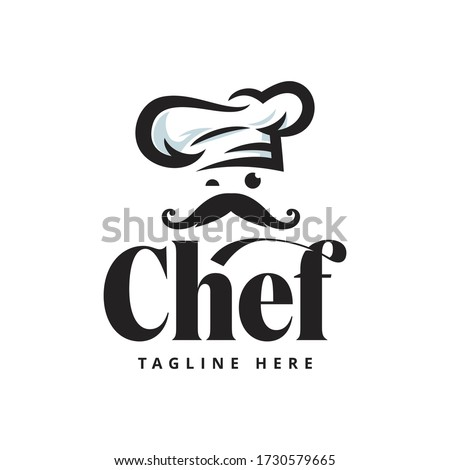 Chef Restaurant Logo Stock Illustrations Template