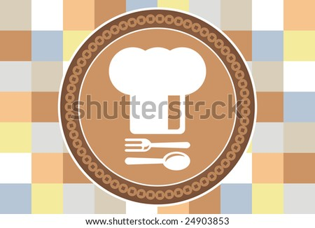 Chef's Hat - with spoon and fork