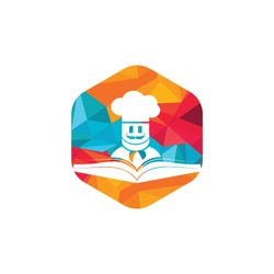 Chef study vector logo design template. Food cooking education logo illustration icon design.