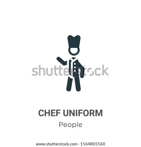 Chef uniform vector icon on white background. Flat vector chef uniform icon symbol sign from modern people collection for mobile concept and web apps design.