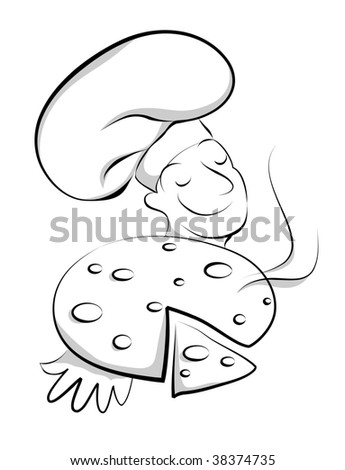 Chef with pizza(vector) In the gallery also available high resolution jpeg image made from this vector