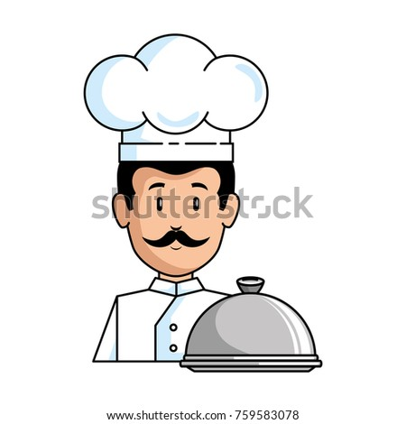 Shutterstock chef with tray avatar character
