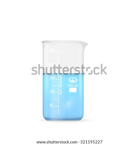 chemical beaker  250 ml volume