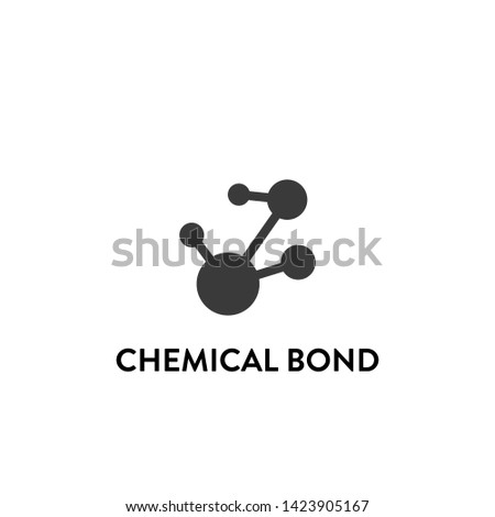 chemical bond icon vector. chemical bond vector graphic illustration