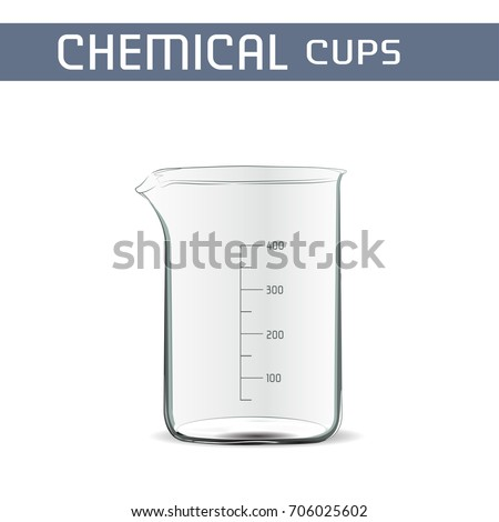 Chemical cup. Photo realistic Vector Illustration.