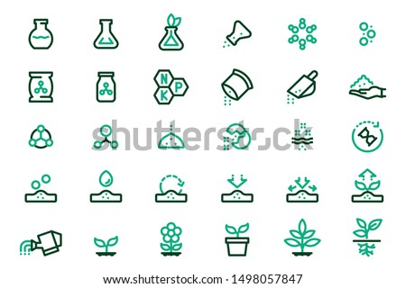 Chemical fertilizer and reactions to plants and soil. Plant nutrients extracted with scientific methods.