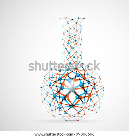 Chemical flask of the molecular structure. Eps 10