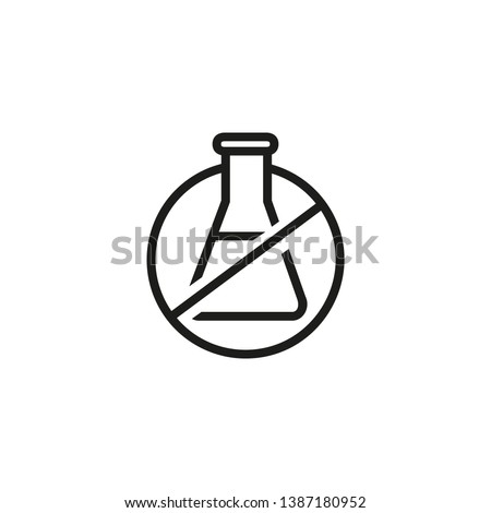 Chemical free line icon. Organic food, no additives, no preservatives. Natural food. Vector illustration can be used for topics like food, healthy eating, market
