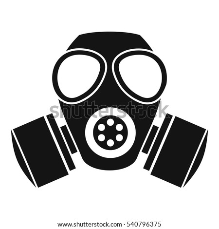 chemical gas mask icon simple