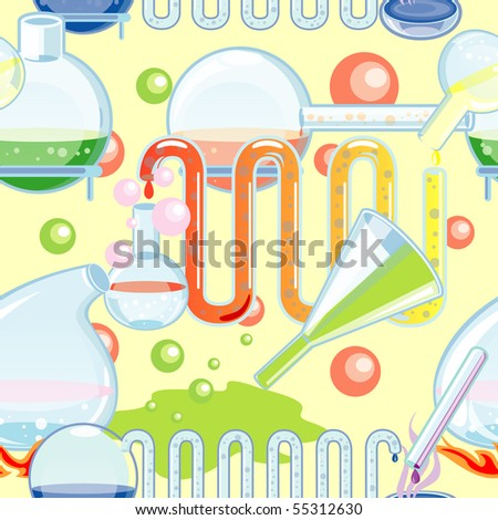 Chemical glass seamless - stock vector