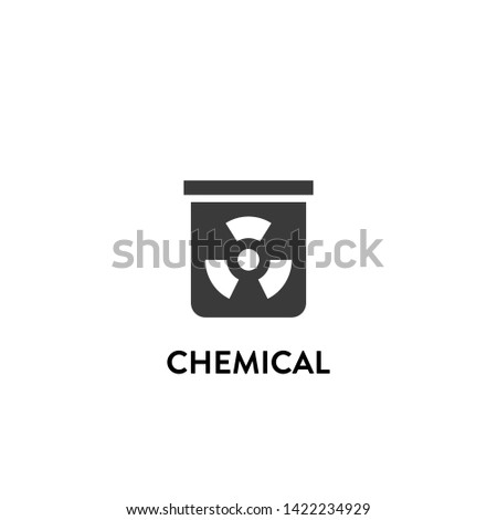 chemical icon vector. chemical vector graphic illustration