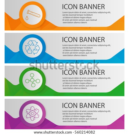 chemical lab banner templates