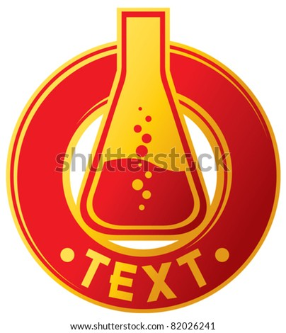 chemical laboratory badge, design (chemical specimens)
