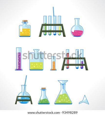 chemical laboratory set of