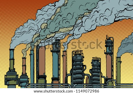 chemical pipe factory smoke....