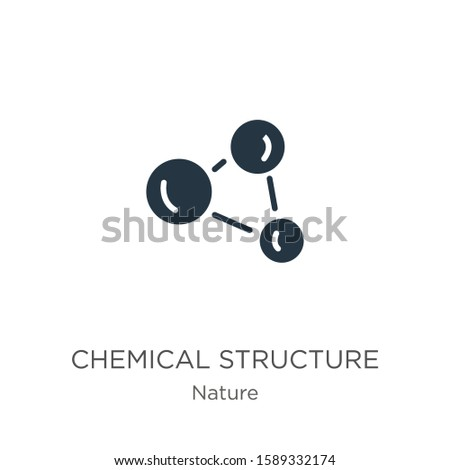 Chemical structure icon vector. Trendy flat chemical structure icon from nature collection isolated on white background. Vector illustration can be used for web and mobile graphic design, logo, eps10