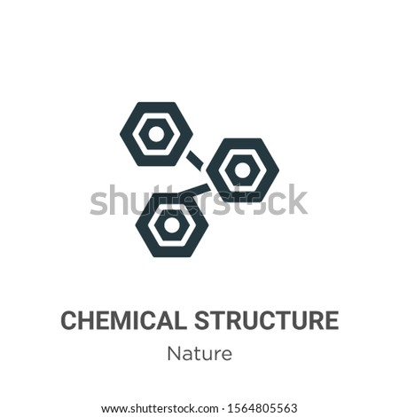 Chemical structure vector icon on white background. Flat vector chemical structure icon symbol sign from modern nature collection for mobile concept and web apps design.