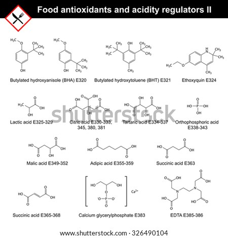 chemical structures of main