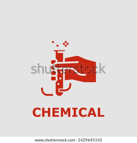 Chemical symbol. Outline chemical icon. Chemical vector illustration for graphic art.