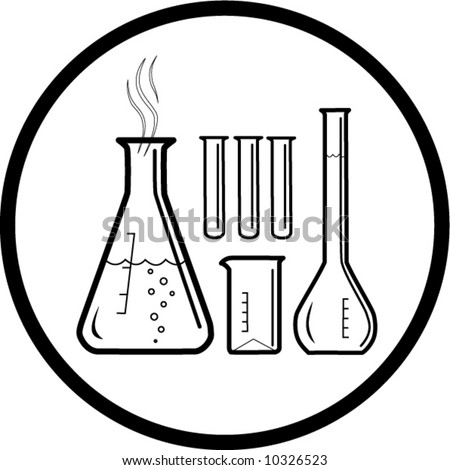 chemical test tubes icon black