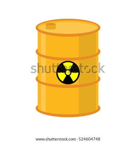 chemical waste yellow barrel