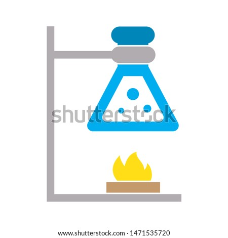 chemistry experiment icon. flat illustration of chemistry experiment - vector icon. chemistry experiment sign symbol