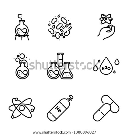 Chemistry Icon Pack set vector