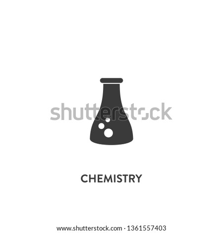 chemistry icon vector. chemistry sign on white background. chemistry icon for web and app