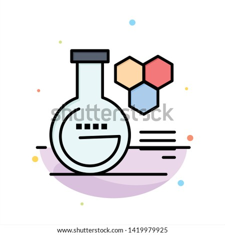 Chemistry, Lab, Chemistry Lab, Education Abstract Flat Color Icon Template