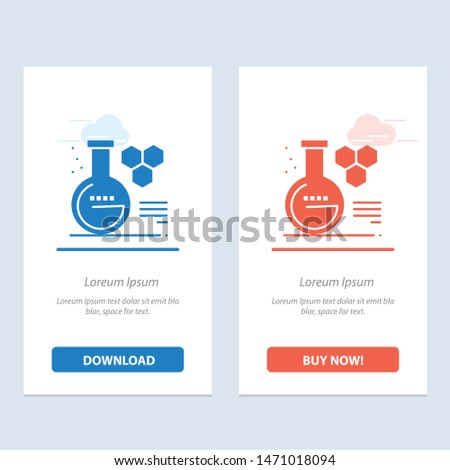 Chemistry, Lab, Chemistry Lab, Education  Blue and Red Download and Buy Now web Widget Card Template. Vector Icon Template background