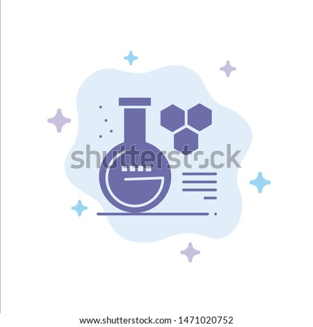 Chemistry, Lab, Chemistry Lab, Education Blue Icon on Abstract Cloud Background. Vector Icon Template background