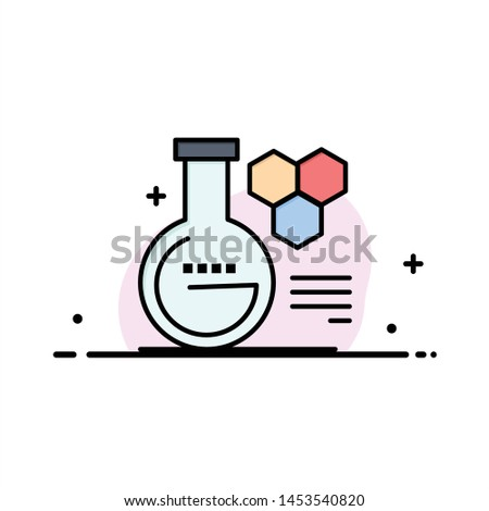 Chemistry, Lab, Chemistry Lab, Education  Business Flat Line Filled Icon Vector Banner Template