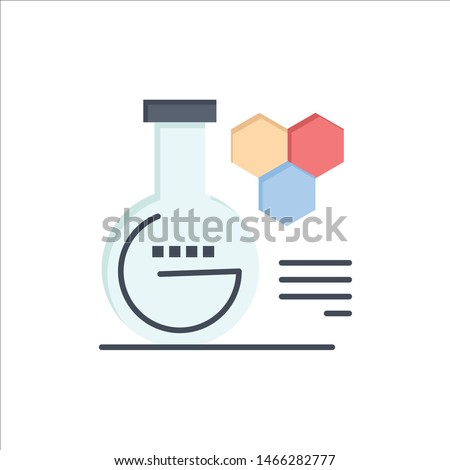 Chemistry, Lab, Chemistry Lab, Education  Flat Color Icon. Vector icon banner Template. Vector Icon Template background