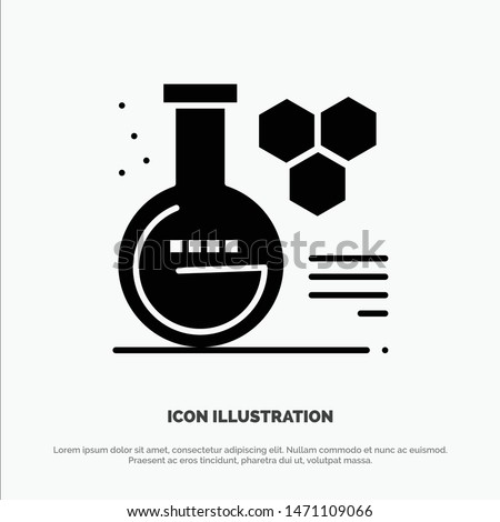 Chemistry, Lab, Chemistry Lab, Education Solid Black Glyph Icon. Vector Icon Template background