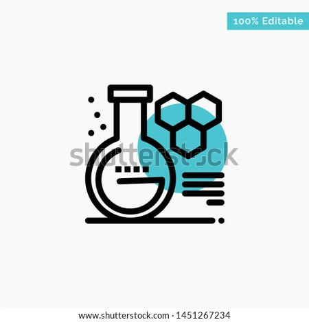 Chemistry, Lab, Chemistry Lab, Education turquoise highlight circle point Vector icon
