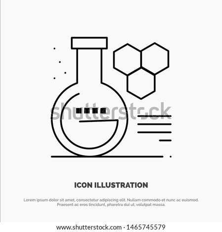 Chemistry, Lab, Chemistry Lab, Education Vector Line Icon. Vector Icon Template background