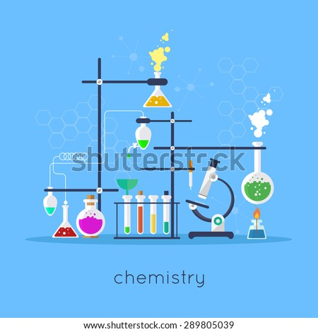 chemistry laboratory workspace