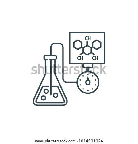 chemistry line icon