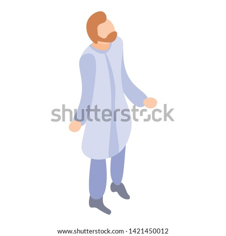 Chemistry scientific man icon. Isometric of chemistry scientific man vector icon for web design isolated on white background